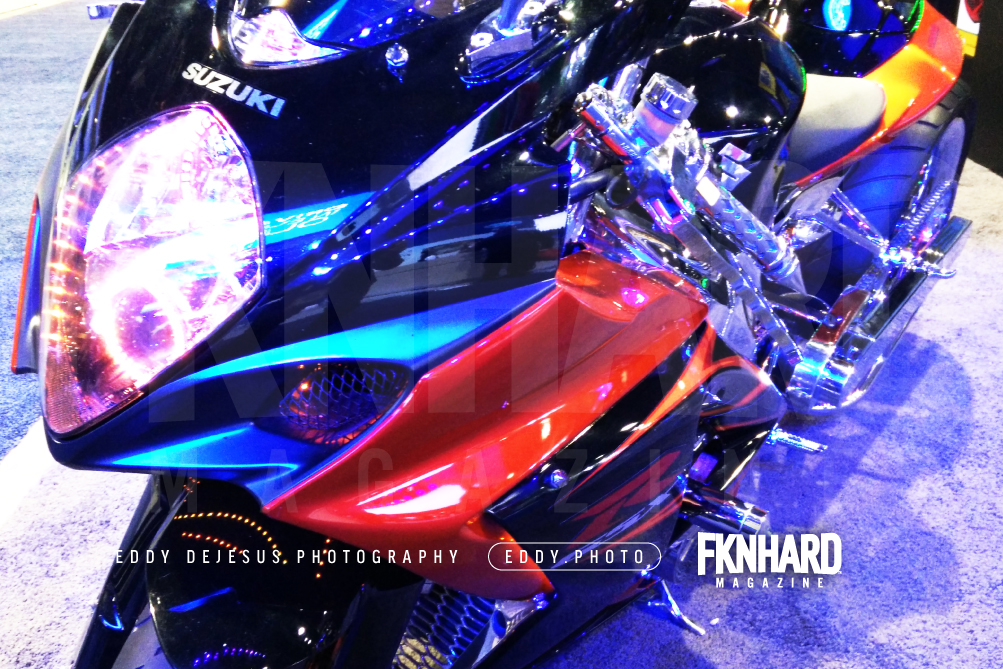 eddy-dejesus-photography-fknhard-magazine-ces-2016-suzuki-sport-bike-custom-orange-and-black-gsxr-closeup-headlight-led
